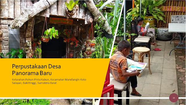 Perpustakaan Desa Panorama Baru Sumatera Barat Peduli Lingkungan dengan Program Pengolahan Sampah