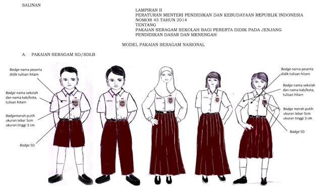 Peraturan Pemerintah Tahun 2014 Tentang tata cara Berseragam Sekolah