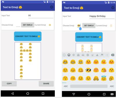 تطبيق رائع يحول جميع كتابتك إلى رسوم تعبيرية  Text to Emoji