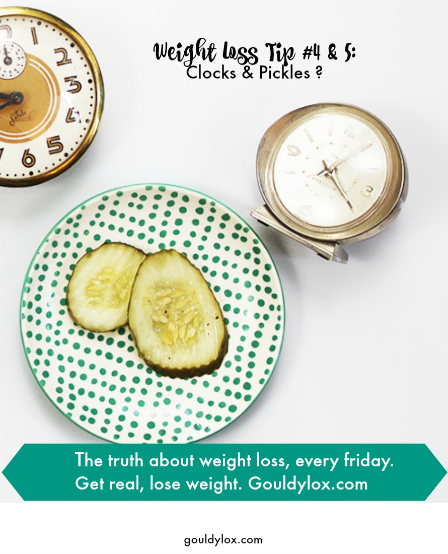 Can clocks and pickles help you lose weight?