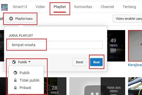 Cara Mudah Membuat Dan Menghapus Playlist Atau Daftar Putar Youtube Topdewe Com