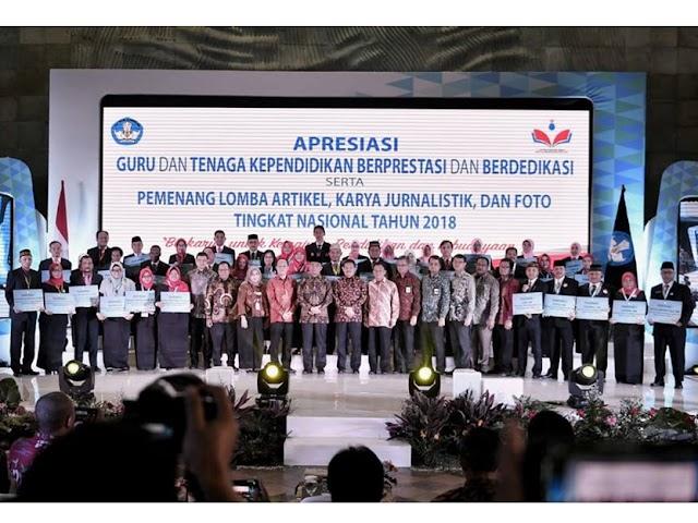 Apresiasi GTK Berprestasi dan Berdedikasi Tingkat Nasional 2018