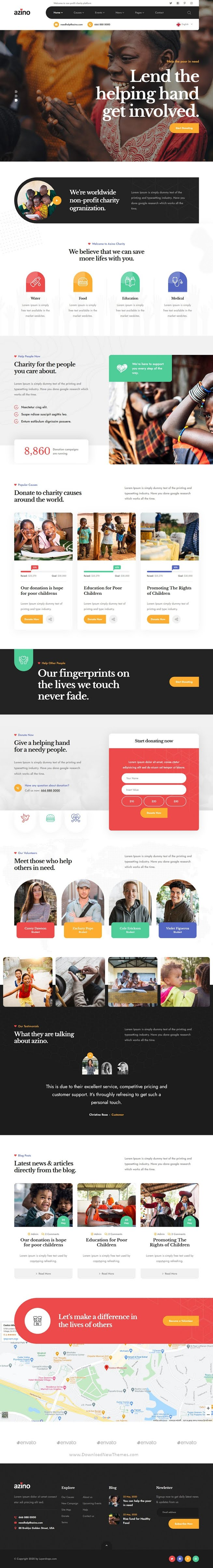 Nonprofit Charity HTML Template