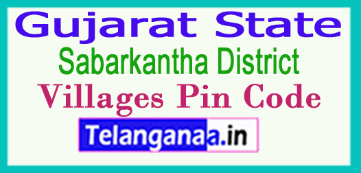 Sabarkantha District Pin Codes in Gujarat State