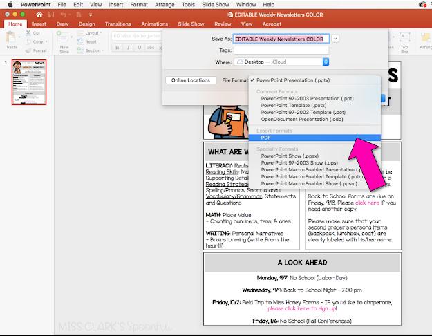 Saving PowerPoint as PDF