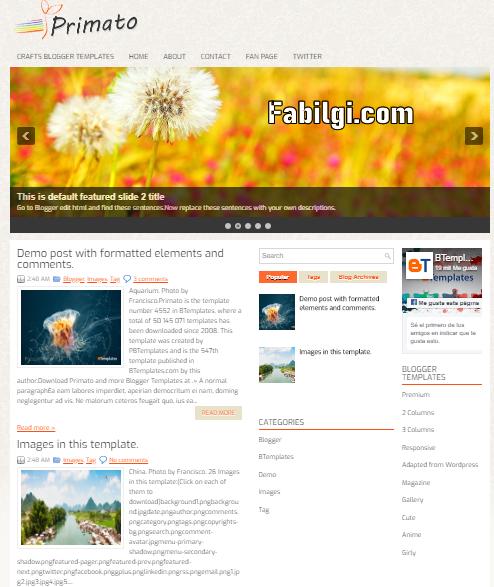 Blogger Wordpress Benzeri Tema Seo Uyumlu - Primato 2020