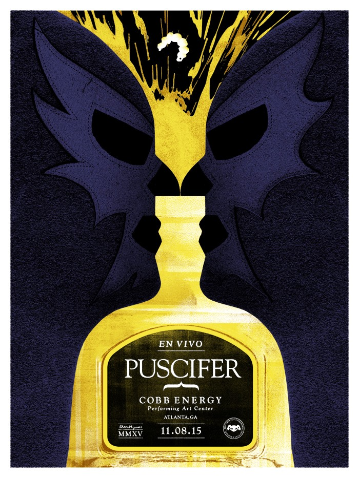 Inside The Rock Poster Frame Blog Alan Hynes Puscifer