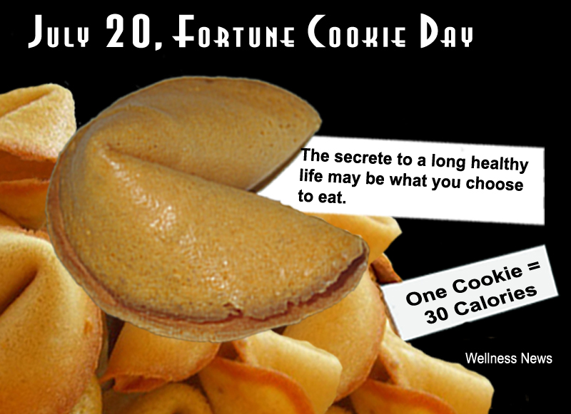 July 20, Food Highlights Fortune Cookie Day and Lollipop Day