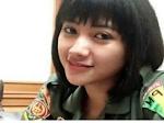 Shella Ghivitamala, Prajurit Cantik Ini Disebut Ajudan Gatot Nurmantyo, Benarkah?