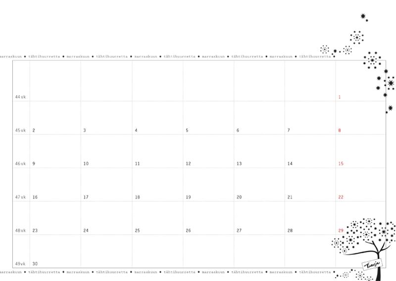 Kalenteripohja