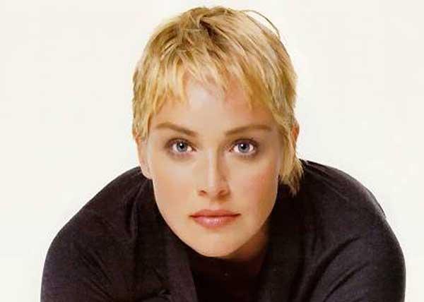 Sharon Stone Pixie Hair Cut