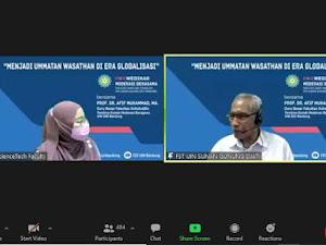 Webinar Moderasi Beragama, Prof. Afif Muhammad: Jadilah Ummatan Wasathan di Era Globalisasi
