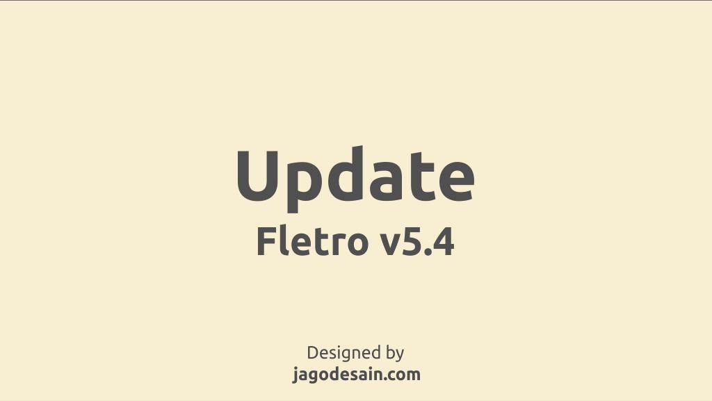 Update Fletro Pro v5.4