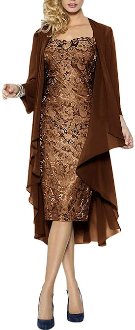 Short Brown Mother of The Bride Dresses