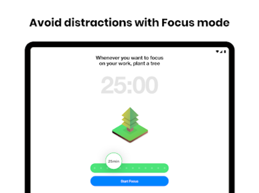 Work with focus mode