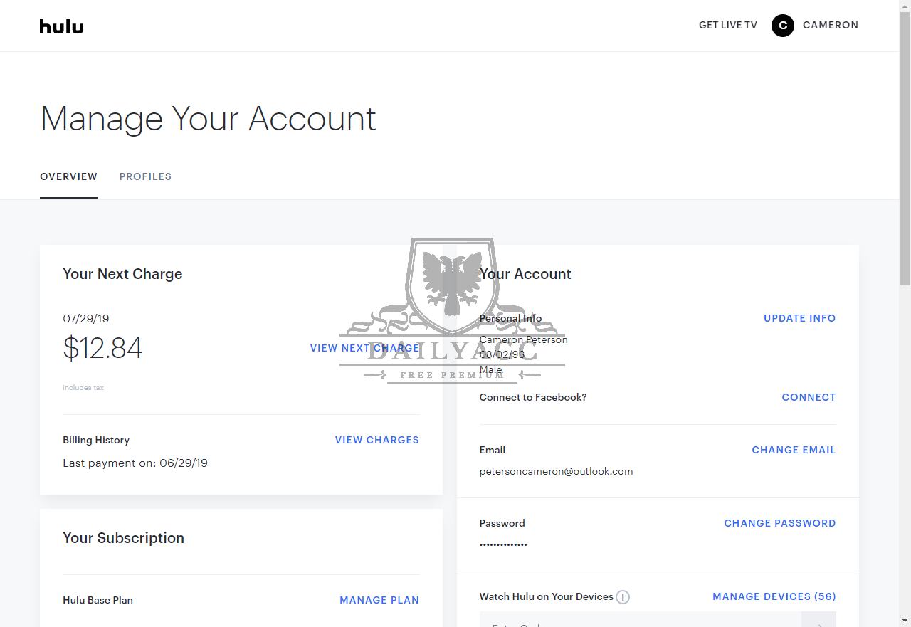 Free Premium Accounts For FIle Hosting, Streaming, VPN - PremiumDB pw