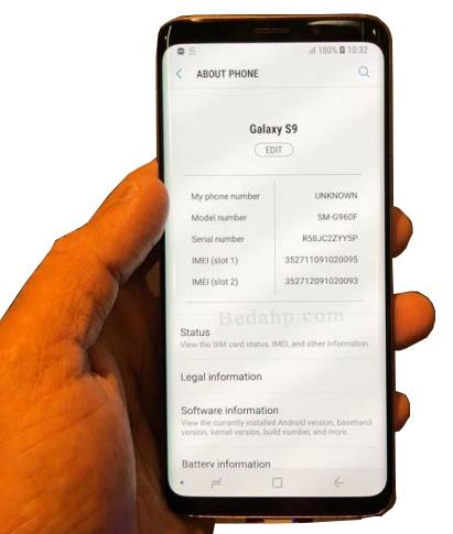 Cara Cek Kode IMEI Samsung S9, S9+ Asli  dan palsu (replika, tiruan, HDC, supercopy)