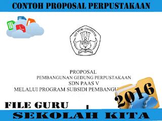 Contoh Proposal Pengajuan Gedung Perpustakaan Terbaru 2016