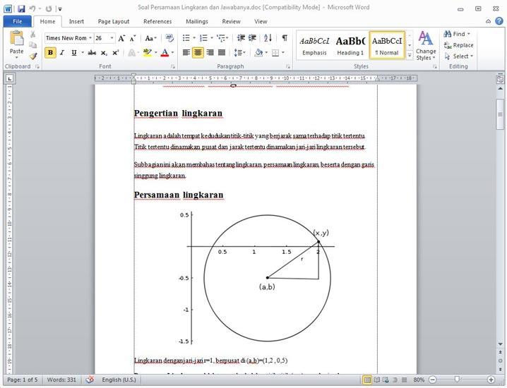 Materi Soal Pembahasan Persamaan Lingkaran
