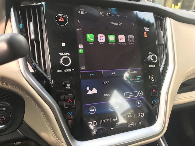 Infotainment/HVAC in 2020 Subaru Legacy Limited