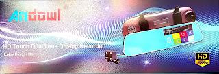"""specchietto andowl touch monitor 5"""" con telecmara 4 led"""