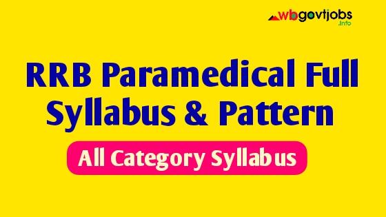 Railway Paramedical Syllabus
