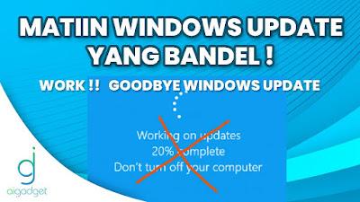 Tutorial Mematikan Windows Update yang Bandel 100% Work | Windows 7, 8, 10