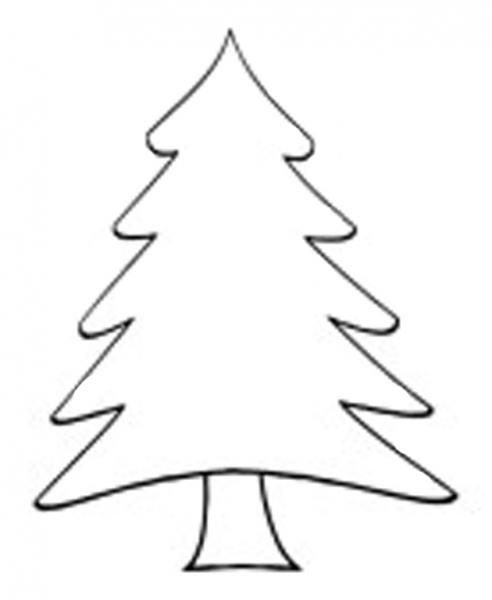 Top 20 Christmas Tree Outline - Christmas Tree Outlines