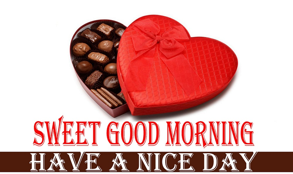 Heart Shape Romantic Good Morning Chocolate Image HD