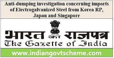 imports of Electrogalvanized Steel