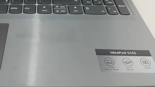 Fingerprints on the matte silver finish of this laptop.