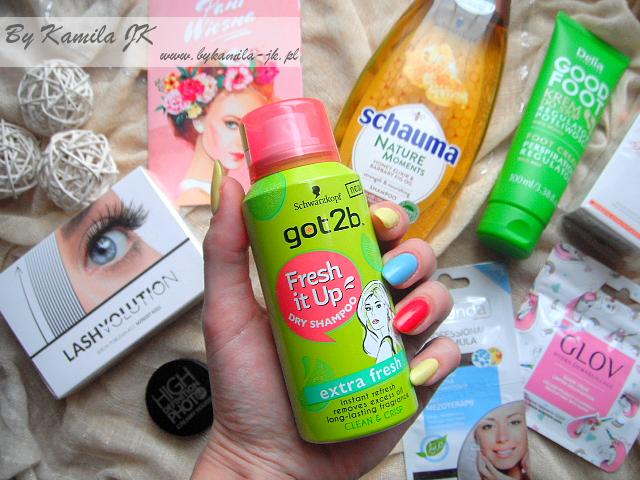 Shiny Box Pani Wiosna Edycja marzec 2017 pudełko kosmetyki suchy szampon got2be