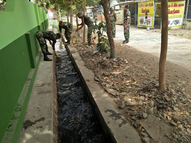 Koramil Wonosari Wujudkan Lingkungan Kantor Yang Bersih
