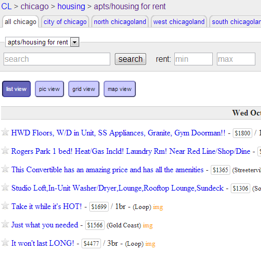 Chicago Craigslist Apartments