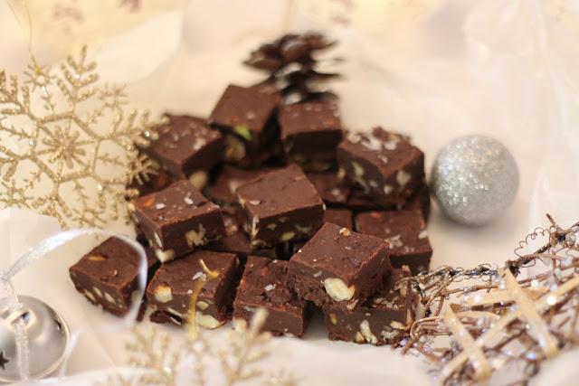 Chocolate and hazelnut fudge