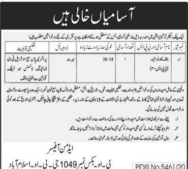 Public Sector Organization PO Box 1049 Islamabad Jobs 2021 in Pakistan