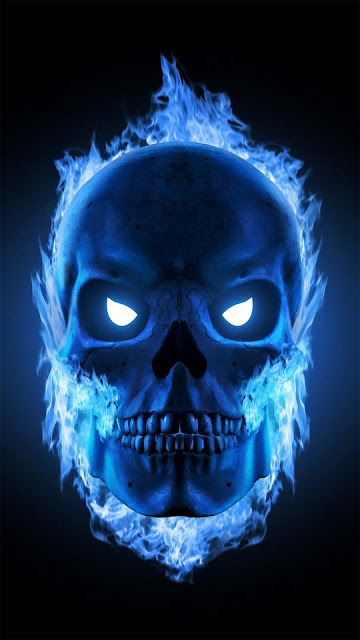 20 Fangs Flower Skull, Spray SKull, Colorful Magic Skull Wallpapers 4K HD for Android and iPhone