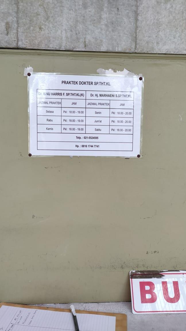 jadwal dokter praktik klinik THT Astiti tangerang