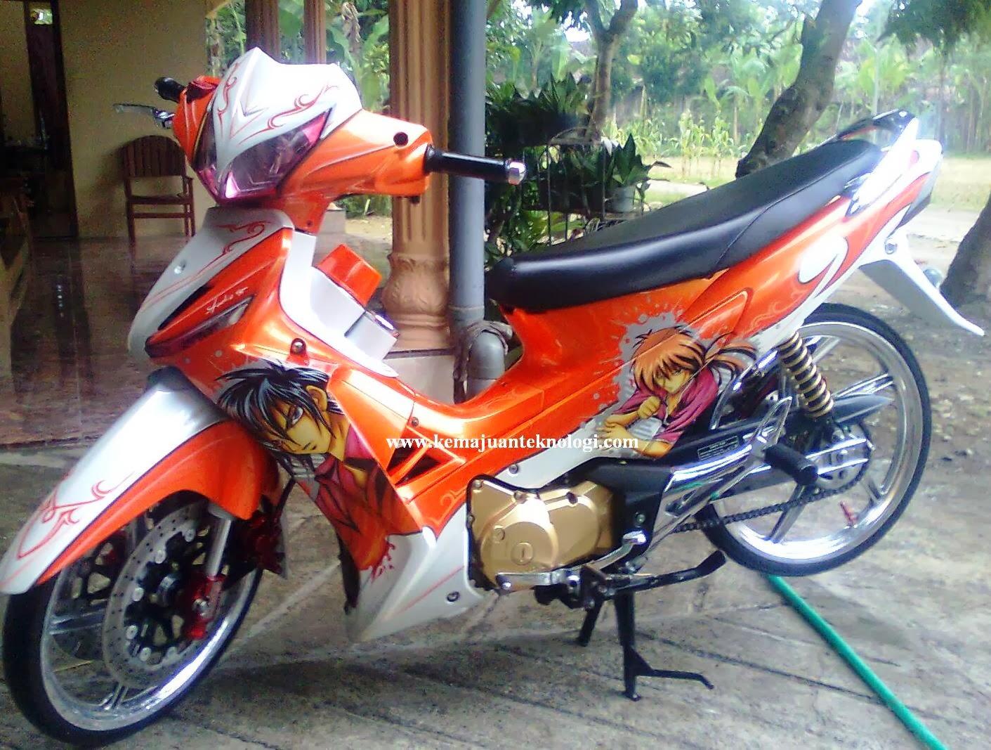 Motor Drag Supra Modiffikasi Honda Supra X