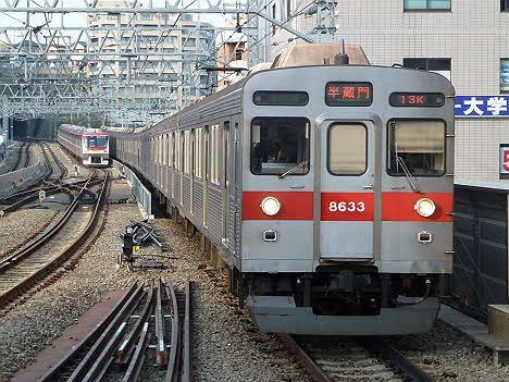 【速報?】東急8500系の半蔵門行きを撮影!