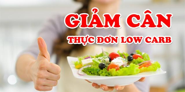 Thực đơn low carb giảm cân và mỡ bụng