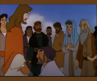 Jesus e a multidão