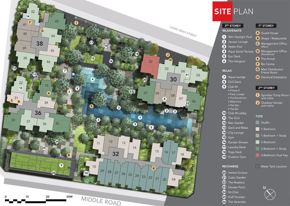 The M - Site Plan