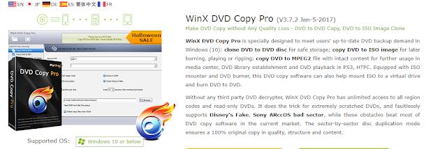 إليك WinX Dvd Copy Pro ..  برنامج لتجديد الـ DVD و إستعادتها لحاسوبك و التعامل مع ملفات الـ ISO