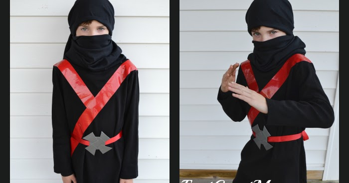 & East Coast Mommy: Easy Black Ninja Costume (no sewing required)