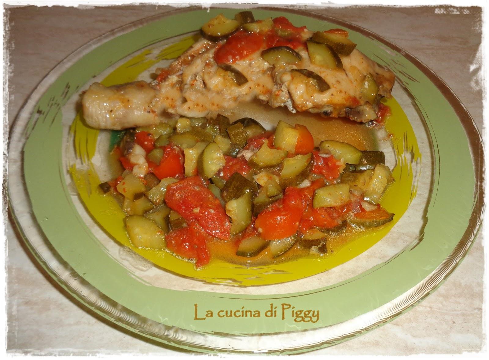 Cosce di pollo con zucchine e pachino | La Cucina di Piggy