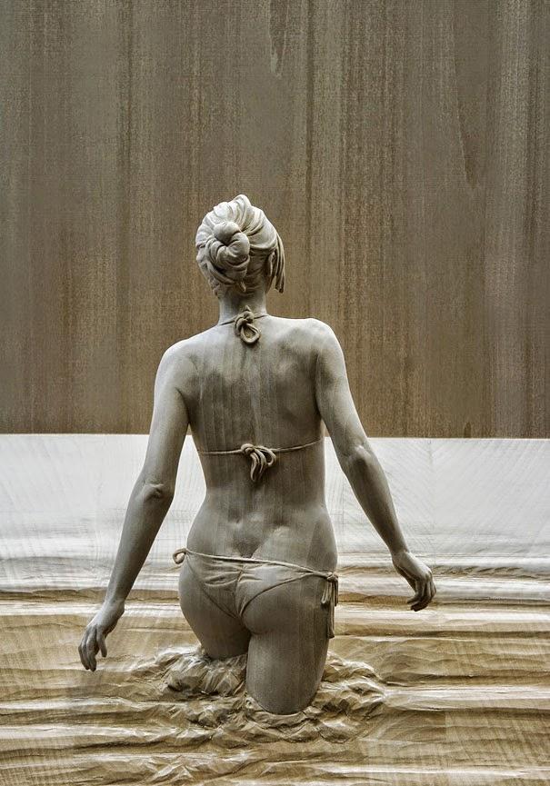 realistic wooden sculptures peter demetz