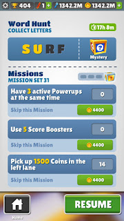 All missions completed and unlocked subway surfers mod APK
