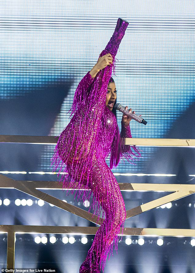 Cardi B performs at the Music Midtown festival in Atlanta