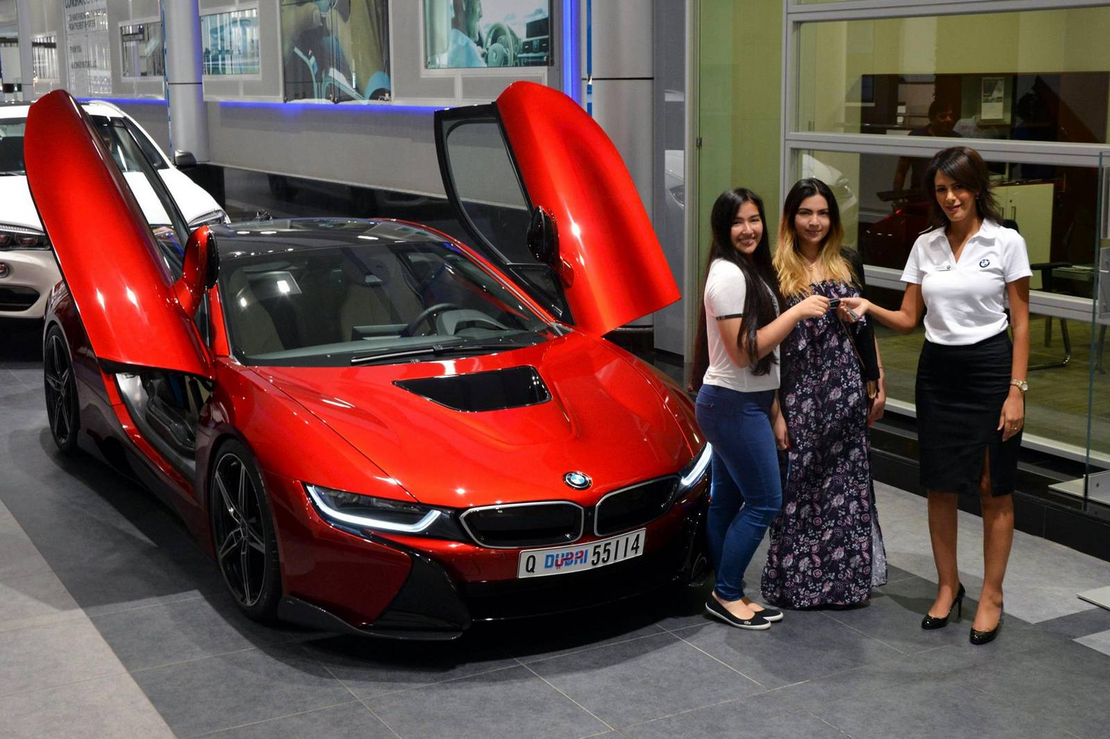 Princess Takes Delivery Of Custom Bmw I8 In Abu Dhabi